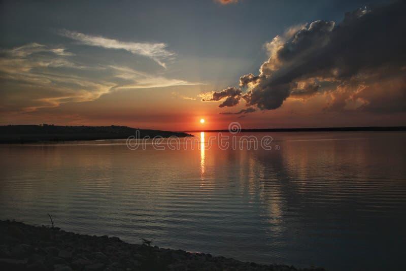 De zonsondergang van meeroahe royalty-vrije stock foto