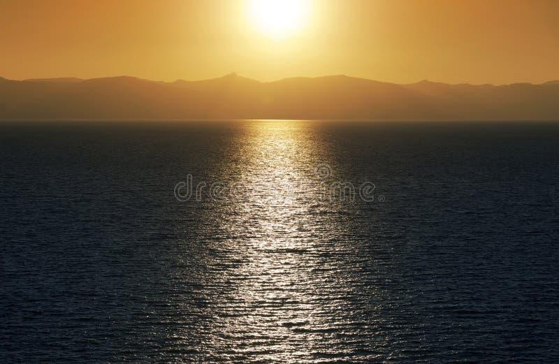 De Zonsondergang van meertahoe stock fotografie