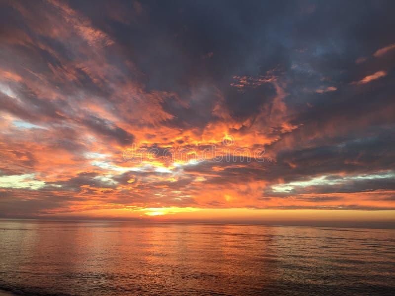 De Zonsondergang van Michigan stock fotografie