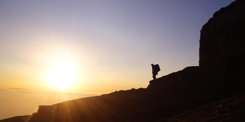 De zonsondergang van Moel royalty-vrije stock afbeelding