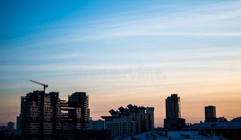 De zonsondergang van Moskou stock foto