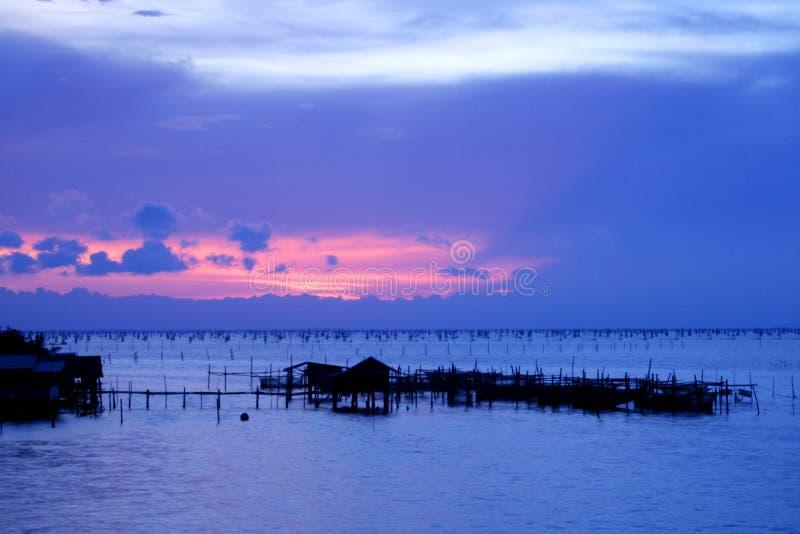 De zonsondergang van Nice stock afbeelding