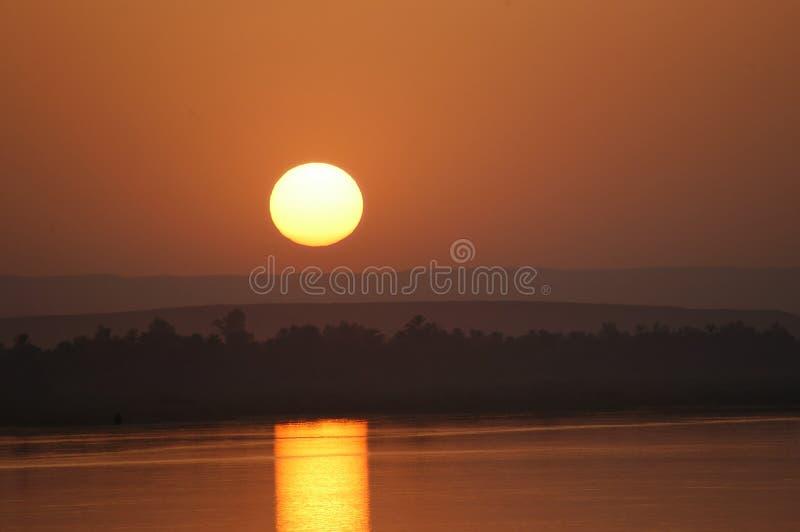 De Zonsondergang van Nijl stock foto