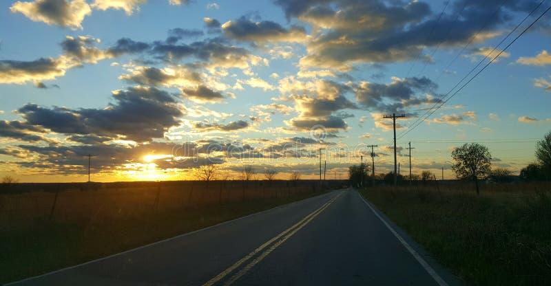 De Zonsondergang van Oklahoma royalty-vrije stock foto