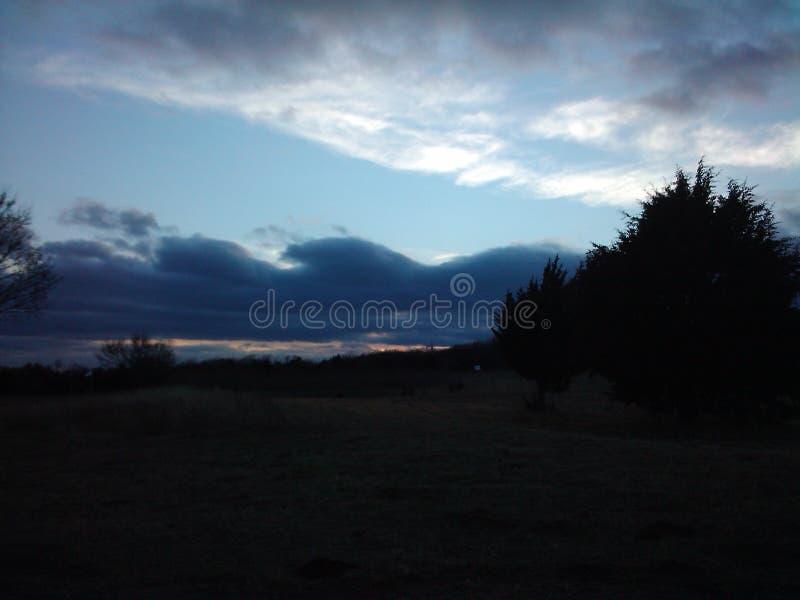De Zonsondergang van Oklahoma stock fotografie