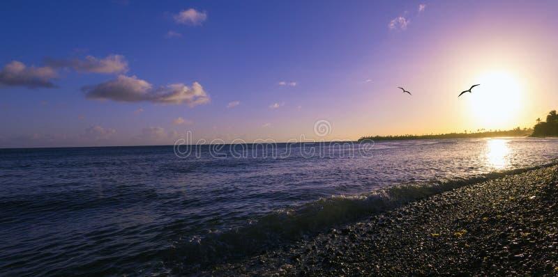 De Zonsondergang van Puerto Rico royalty-vrije stock afbeelding