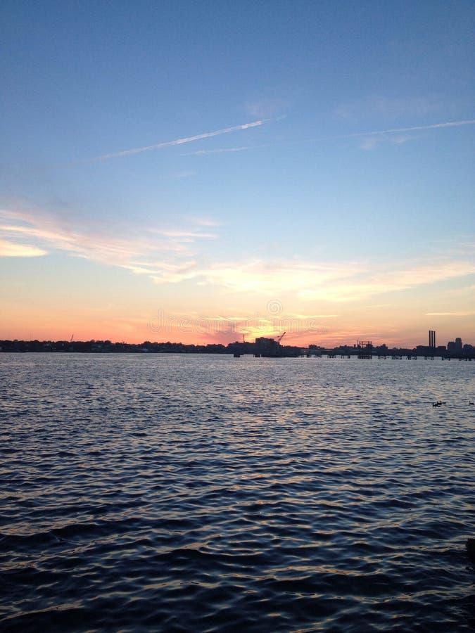 De zonsondergang van Rhode Island stock foto