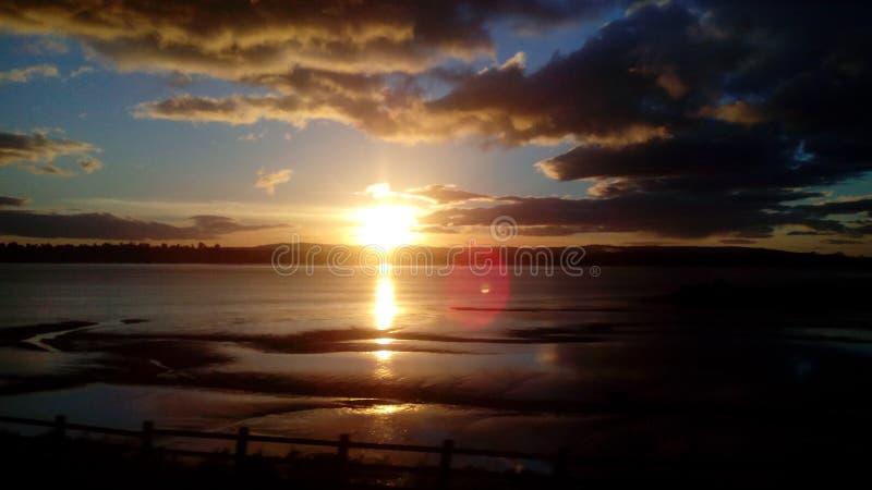 De zonsondergang van Schotland stock fotografie