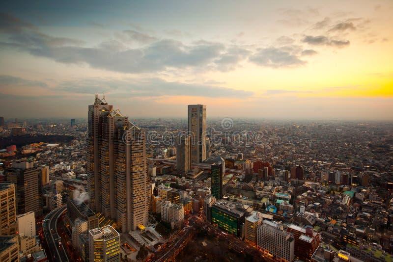 De Zonsondergang van Tokyo stock foto's