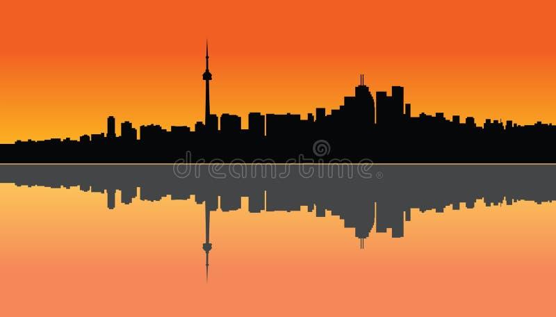 De zonsondergang van Toronto vector illustratie