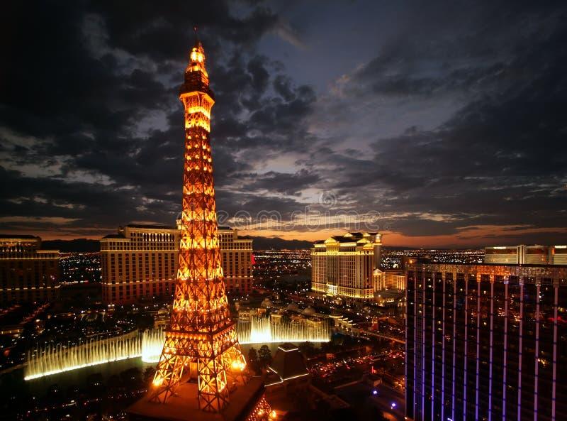 De Zonsondergang van Vegas van Las royalty-vrije stock foto's