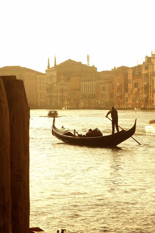De zonsondergang van Venetië stock foto