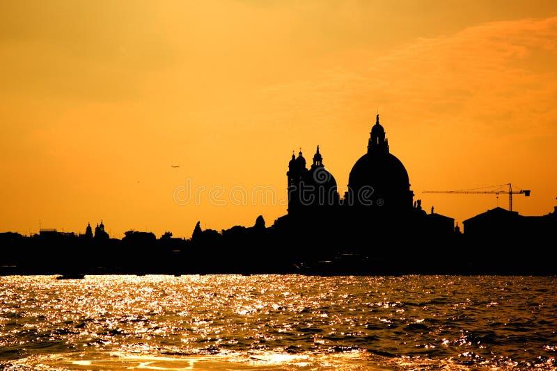 De Zonsondergang van Venetië stock foto's