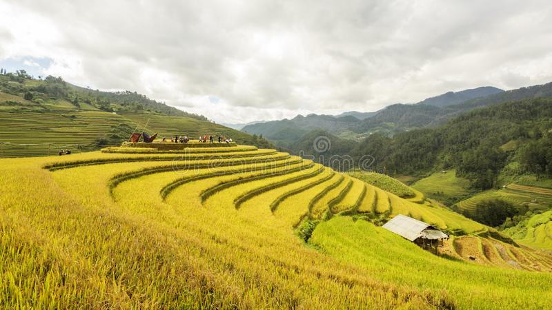 De zonsondergang van Yunnanchina royalty-vrije stock foto