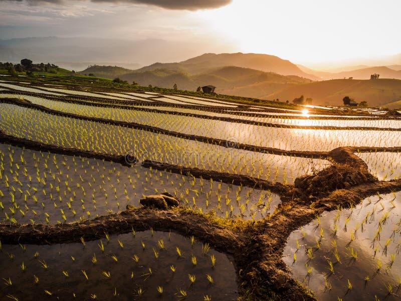 De zonsondergang van Yunnanchina royalty-vrije stock afbeeldingen