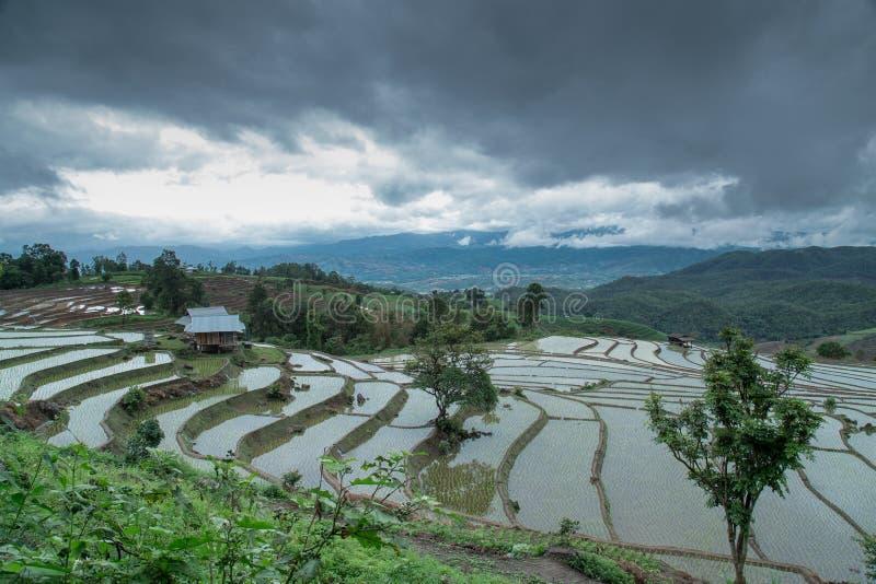 De zonsondergang van Yunnanchina stock fotografie
