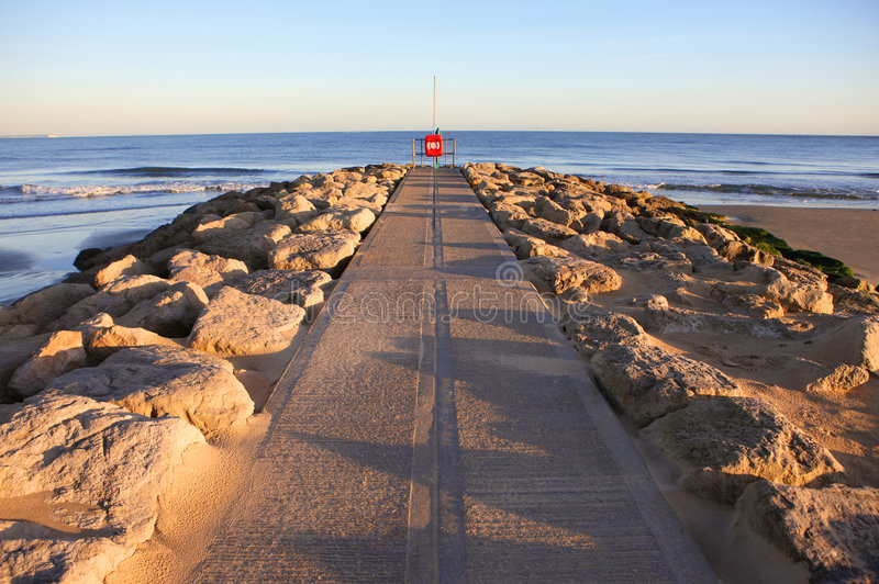 De Zonsondergang van zandbanken royalty-vrije stock fotografie
