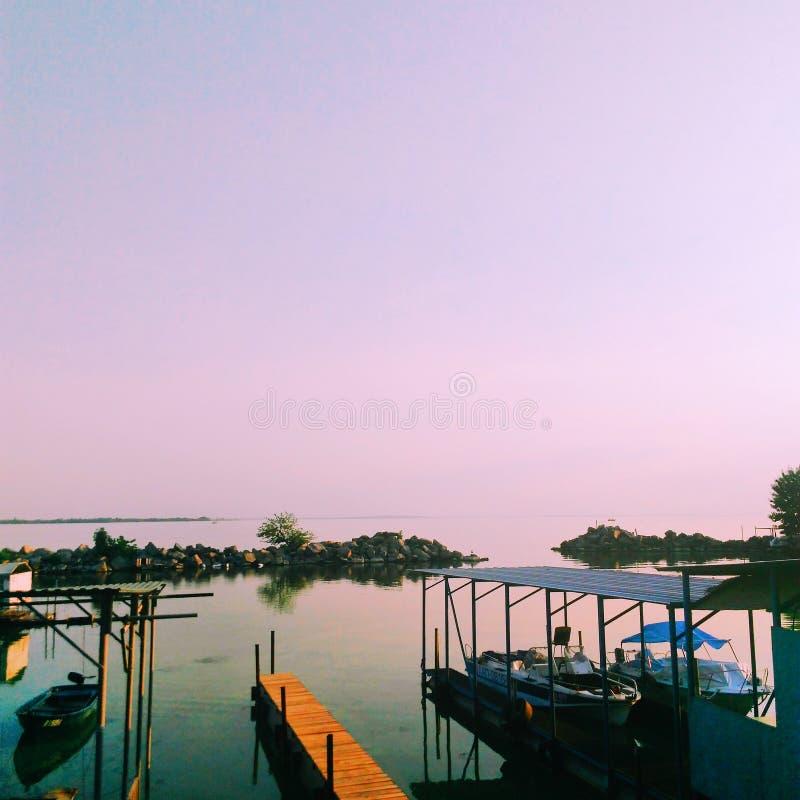 De zonsondergang van de zomer stock foto