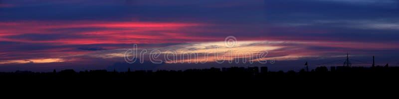 De zonsonderganggloed royalty-vrije stock foto