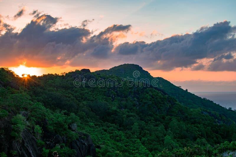 De Zonsopgang GLB Ternay van Seychellen royalty-vrije stock foto