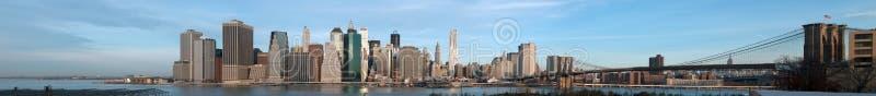 De Zonsopgang New York van Manhattan royalty-vrije stock foto's