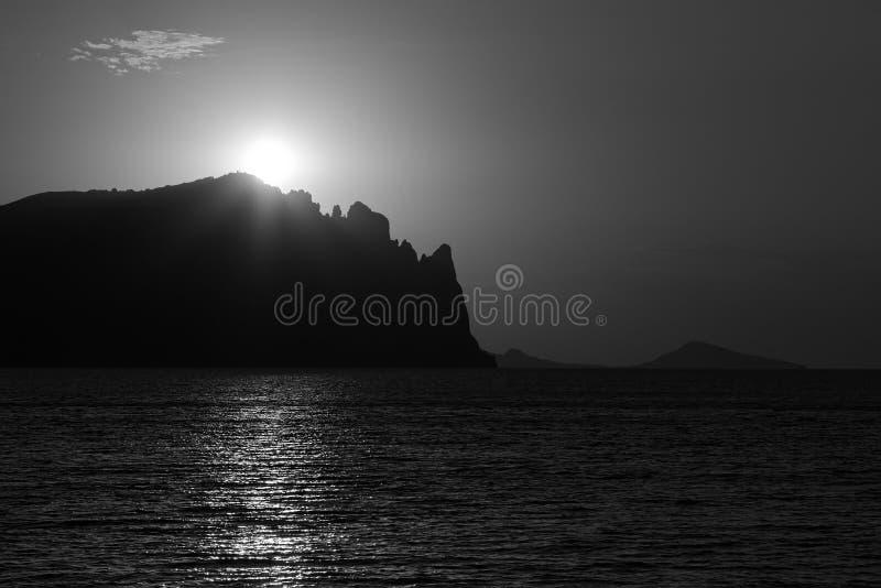 De zonsopgang over de oude Zwarte zet op royalty-vrije stock afbeeldingen