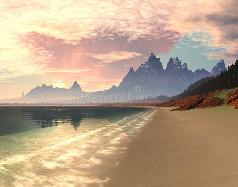 De Zonsopgang van de Baai van het paradijs royalty-vrije stock afbeelding
