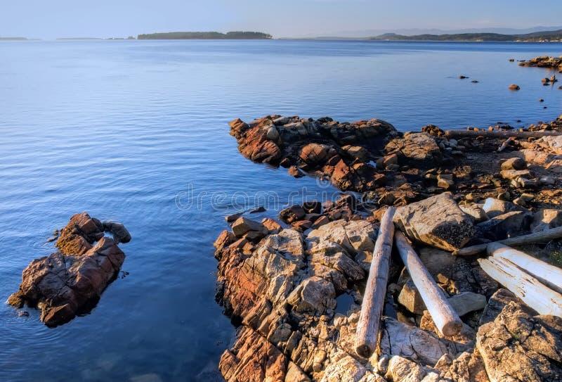 De Zonsopgang Van De Herfst, Het Eiland Van Vancouver, Canada Stock Fotografie