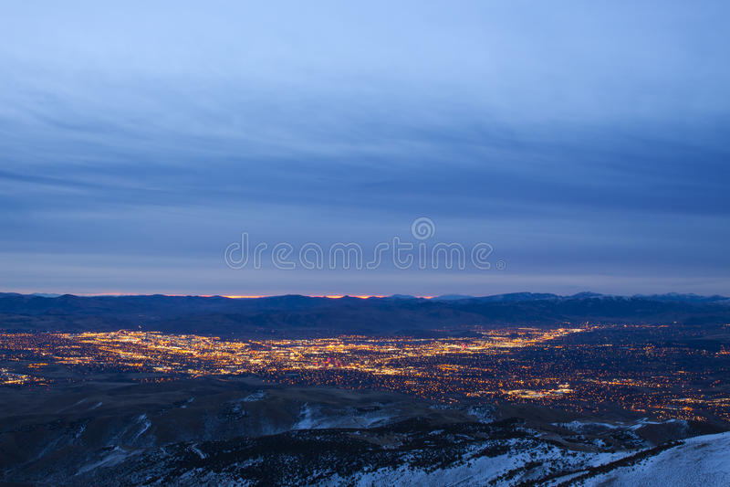 De Zonsopgang van de Stad van Reno stock foto's