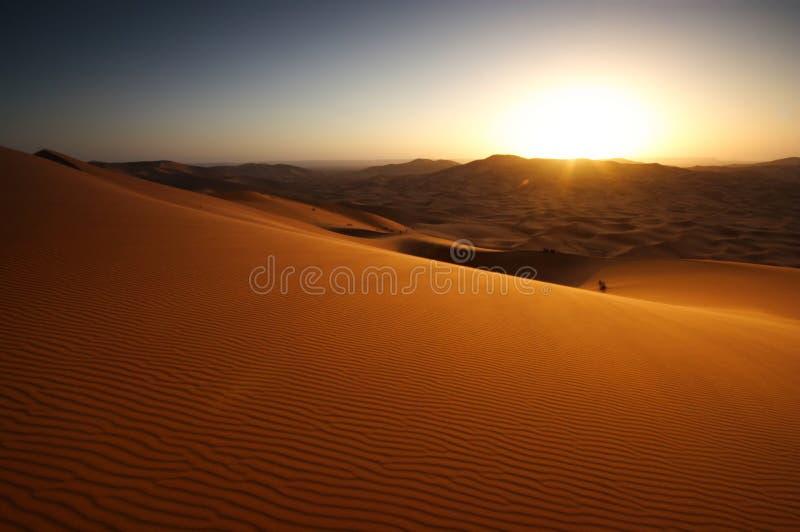 De Zonsopgang van de woestijn stock foto