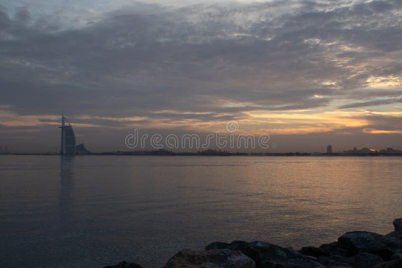 De zonsopgang van Doubai royalty-vrije stock foto's