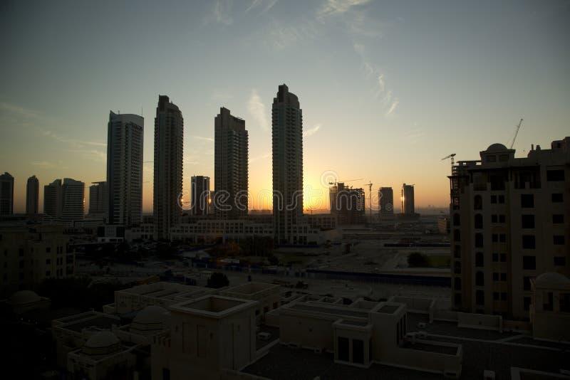 De zonsopgang van Doubai stock foto