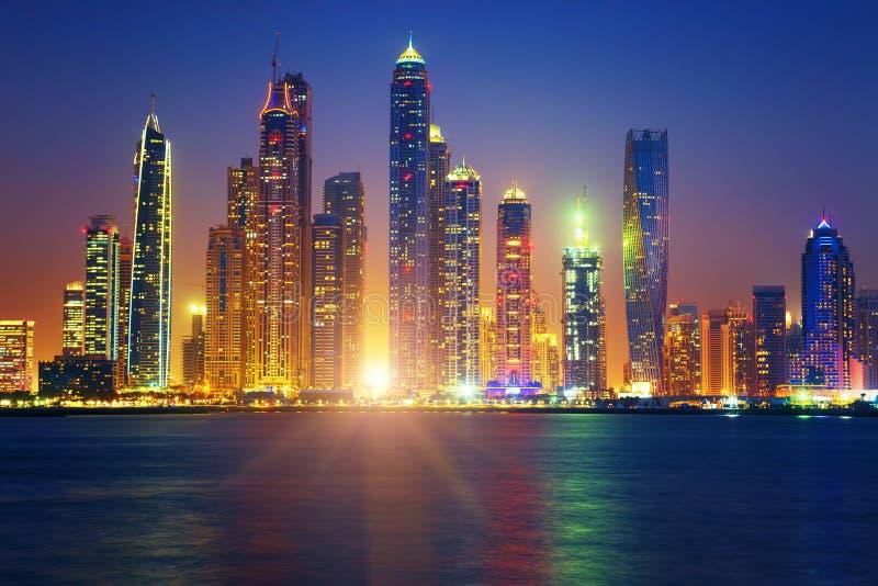De zonsopgang van Doubai royalty-vrije stock fotografie