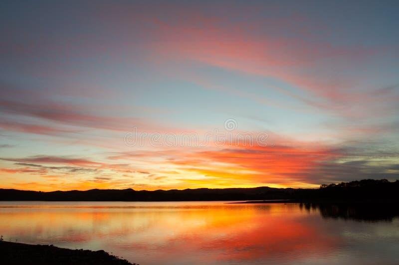 De zonsopgang van het zeegezicht royalty-vrije stock foto