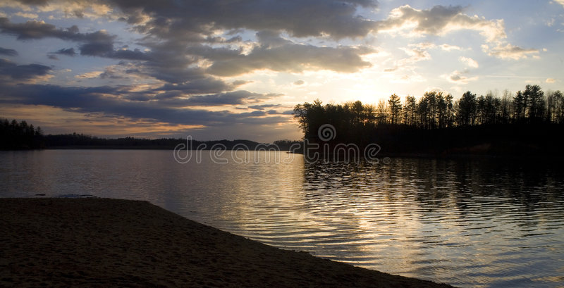 De zonsopgang van James van het meer royalty-vrije stock fotografie