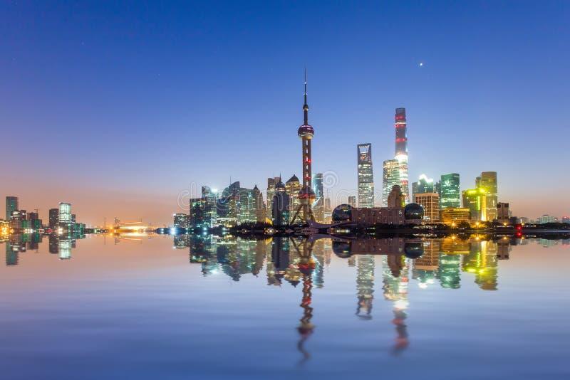 De zonsopgang van Shanghai royalty-vrije stock foto