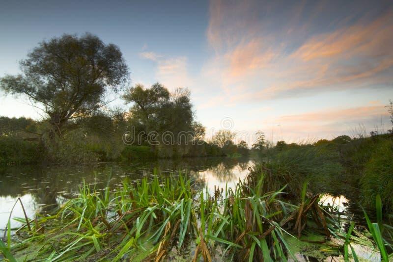 De zonsopgang van Stour van de rivier royalty-vrije stock foto's
