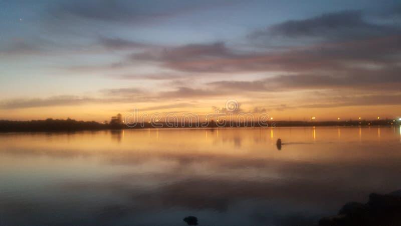 De zonsopgang van Swansea royalty-vrije stock foto's