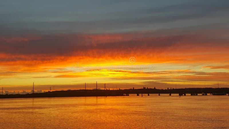 De zonsopgang van Swansea royalty-vrije stock afbeeldingen