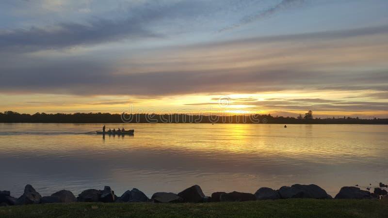 De zonsopgang van Swansea royalty-vrije stock foto