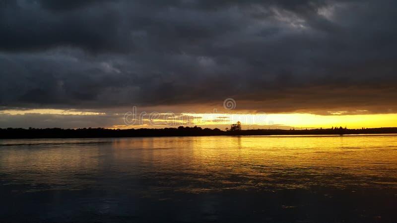 De zonsopgang van Swansea stock foto