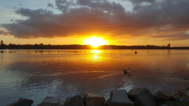 De zonsopgang van Swansea stock fotografie