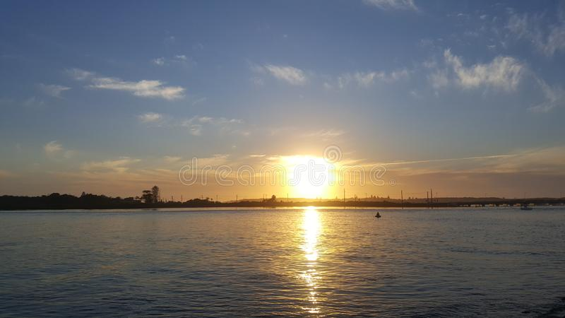 De zonsopgang van Swansea royalty-vrije stock afbeelding