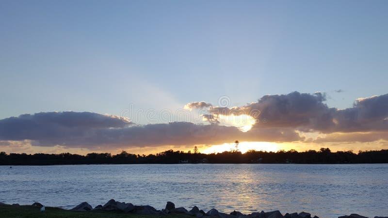 De zonsopgang van Swansea stock foto's