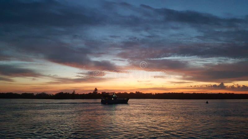 De zonsopgang van Swansea stock afbeelding