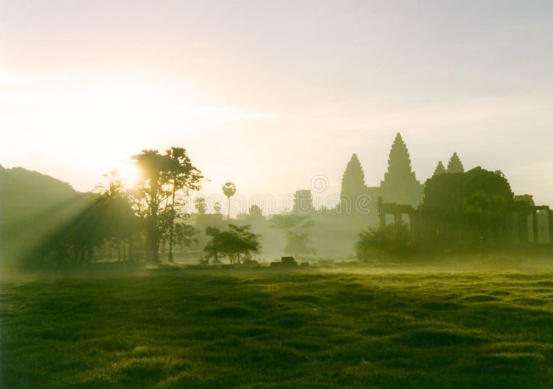De zonsopgang van Wat van het anker royalty-vrije stock afbeelding