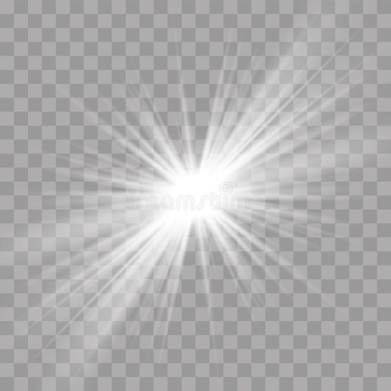 De de zonster van de lichte stralenflits glanst uitstralingseffect stock illustratie