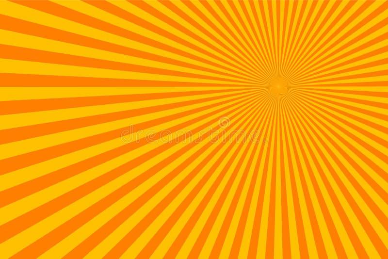 De zonstralen barsten Abstracte Achtergrond stock illustratie