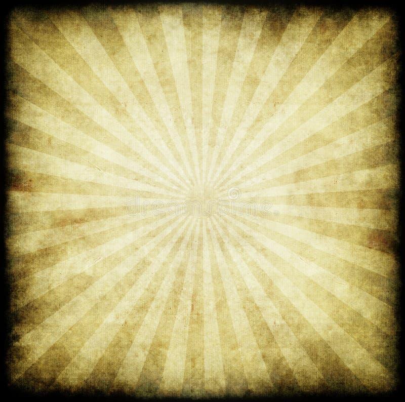 De zonstralen of stralen van Grunge vector illustratie