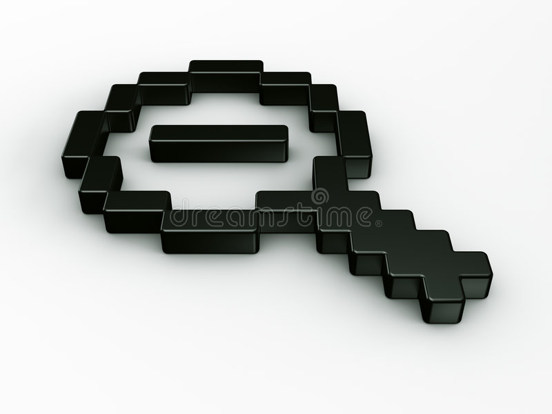 De zoom curseur de souris à l'extérieur dans 3d illustration libre de droits